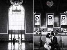 los angeles downtown engagement photos