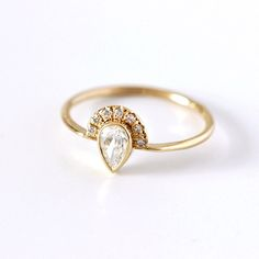 Love this art deco-inspired engagement ring.
