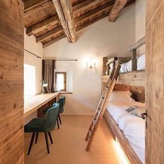 View full picture gallery of Chesa Maria – La Punt St.Moritz View full picture gallery of Chesa Maria – La Punt St. Chalet Design, House Design, Loft Design, Chalet Style, Cottage Design, Design Model, Bunk Rooms, Attic Rooms, Bedrooms