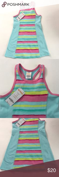 NWT Gymboree Pink Blue Striped Racer Back Dress Brand-new with tags so cute and adorable pink yellow and blue striped dress with pink trim racer back Gymboree Dresses Casual