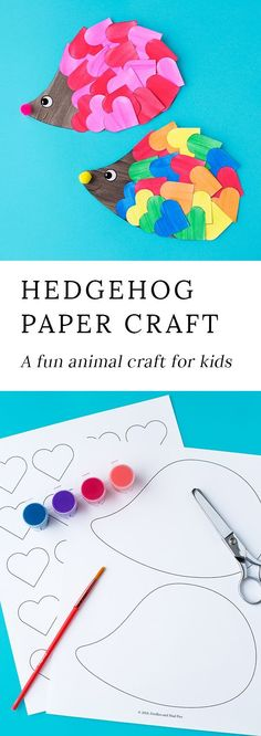 This easy hedgehog craft is perfect for kids who love animals! #hedgehogcraft #animalcrafts #papercrafts #crafts