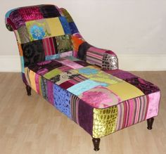 1000 images about laura ashley velvet on pinterest for Chaise longue patchwork