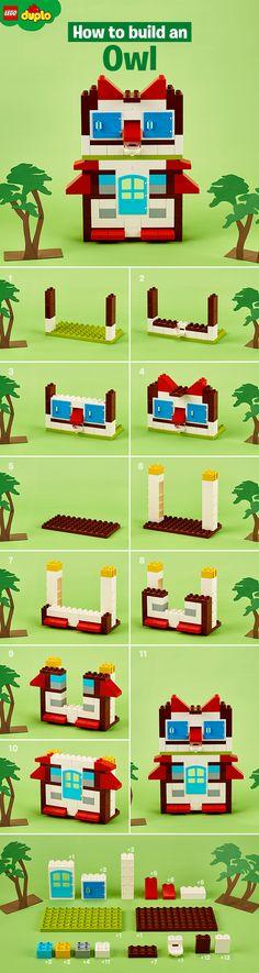 All wisdom begins in wonder! Build a wise old owl with your toddler using LEGO DUPLO bricks. https://shop.lego.com/en-GB/DUPLO-Sets