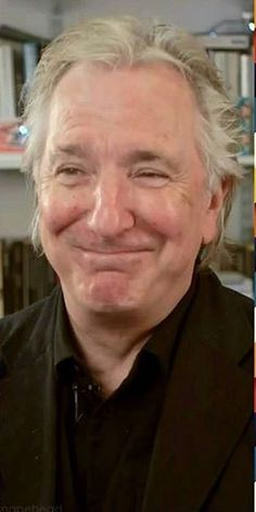 And yet another great photo that needs a date. *sigh* ... ... Alan Rickman Always — His smile melts the Arctic