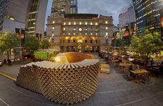 Proyecto de arquitectura realizado gracias a reciclar tubos de cartón ...