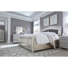 Shop for Furniture of America Gevi Modern Gold Solid Wood Bedroom Set. Get free delivery On EVERYTHING* Overstock - Your Online Furniture Shop! Get in rewards with Club O! Wood Bedroom Sets, Kids Bedroom Sets, Bedroom Furniture Sets, Home Bedroom, Master Bedroom, Furniture Design, Bedroom Decor, Bedroom Ideas, Bedroom Designs