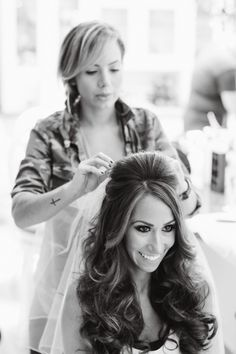 Bride Wears Ysa Makino Couture to Glitzy New Jersey Wedding from Vanessa Joy - wedding hairstyle