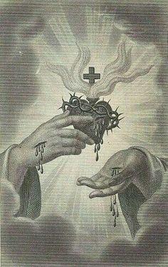 Jesus Christ Images, Jesus Art, Catholic Art, Religious Art, Real Image Of Jesus, Sacred Heart Tattoos, Ancient Greek Sculpture, Religion, Vintage Holy Cards