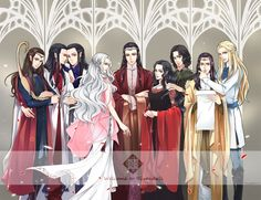 Lindir Elladan Elrohir Celebrian Elrond Arwen Aragon Erestor and Glorfindel