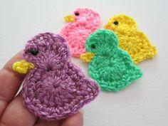 Crochet BIRDDUCK Applique / Embellishment by PinkMeStudio on Etsy, $3.99