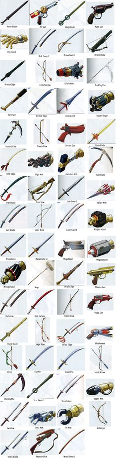Chrono Trigger Weapons!