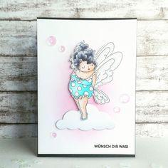 #stampingbella #edna #fairy #birthdaycard #coloring #copics #createasmilestamps #flaschenpost