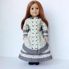 1880's Prairie Dress with Skirt and Waterfall Bustle by LilyKayDollClothes on Etsy $54.00