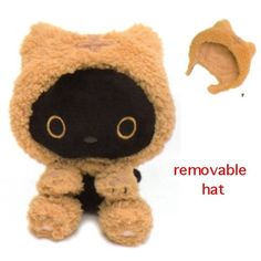 San-X Kutusita Nyanko Cats Café Boots in Removable Costume: Brown