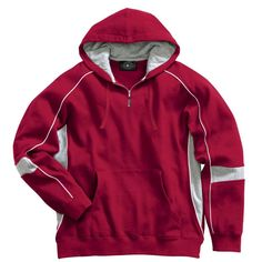Charles River Men's Red/Grey/White Victory Hooded Sweatshirt