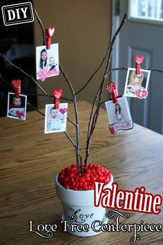 DIY Valentine Love-Tree Centerpiece – Top Easy Interior Design For Party Decor Project - Way To Be Happy (3)
