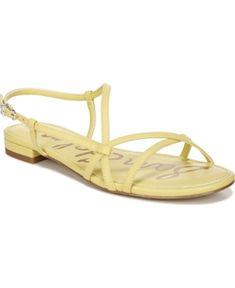 Sam Edelman Teale Strappy Sandals Women's Shoes In Honeydew Strappy Sandals, Shoes Sandals, Heels, Flip Flop Shoes, World Of Fashion, Luxury Branding, Pairs, Honeydew, Leather