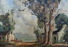 Johan Oldert / oil on canvas South African Artists, Art For Sale, Oil On Canvas, Watercolor, Landscape, Paintings, Inspiration, Recipies, Sunsets