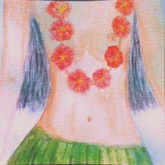 Una #guirnalda de flores, de las que llevan las hawaiianas.