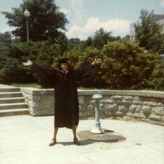 Celebrating graduation in 1970.