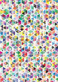 Cuben Colour Craze Art Print by Simon C Page | Society6
