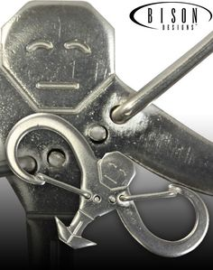 Have some fun with the double gated Bison Designs Monkey Man™ carabiner bottle opener!