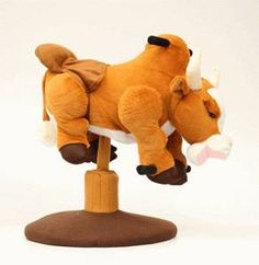 Brown Plush Bouncer - Bull. The brown bouncing bull is fun for kids to ride! Perfect toy for your little cowboy or cowgirl!  - available at Frontier Western Shop www.westershop.com