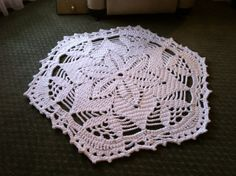 Crochet Doily Rug  Lisa  Handmade Doily Rug with by MissyDDesigns, $190.00