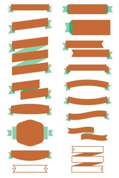 Free Ribbon Vector & Banner Set - Free Vector Site | Download Free Vector Art, Graphics