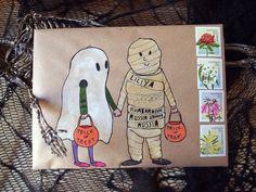 Halloween mail-art                                                                                                                                                                                 More
