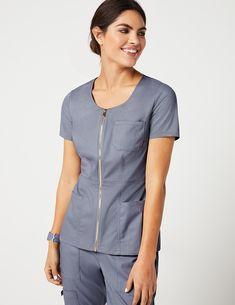 Women's Scrub Tops - Medical Scrubs by Jaanuu Stylish Scrubs, Scrubs Outfit, Shirts For Leggings, Lab Coats, Medical Uniforms, Medical Scrubs, Nursing Tops, Men In Uniform, Costume