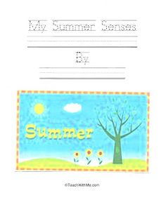 My Summer Senses Easy Reader  - Pinned by @PediaStaff – Please Visit  ht.ly/63sNt for all our pediatric therapy pins