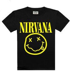 2016 Nueva venta Caliente de Moda de Los Hombres de la camiseta, los hombres de moda de Manga Corta hombres de la camiseta, marca camiseta Nirvana Árbol Tigre Lobo Fuego A3 M-XXXL