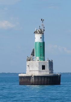 St. Clair Flats South Channel Range Lighthouse, Lake St. Clair, Michigan by Karl Agre, M.D., via Flickr