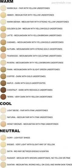 Jane iredale colour chart