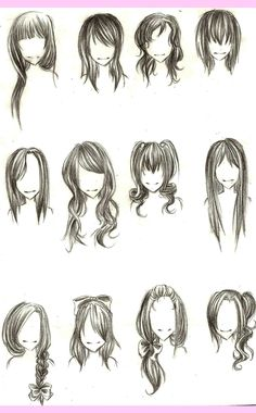 ::Girl hairstyles:: by JustBeFantastic.deviantart.com on @deviantART