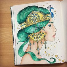 Instagram media forest.fairy226 - Finished colouring the Peacock Princess  I… --> If you're looking for the best adult coloring books and supplies including gel pens, colored pencils, watercolors and drawing markers, check out our website at http://ColoringToolkit.com. Color... Relax... Chill.