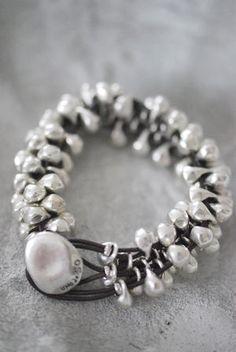 UNO de 50 - bracelet - leather, silver