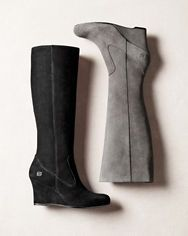 Børn Margeux Suede Wedge Boots