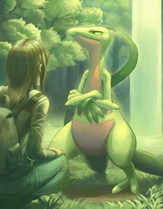 This is my best friend Grovyle, when I was human. He is stubborn but he is still a good pal.