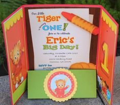 Daniel Tiger Birthday Party Invitations