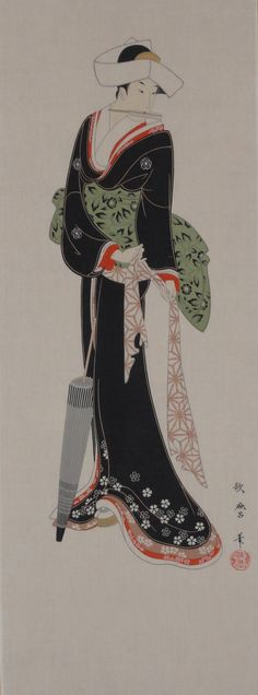 Tenugui Japanese Fabric 'Ukiyoe Beauty' w/Free by kyotocollection, $16.00
