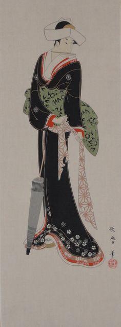 Tissus japonais tenugui  beauté de l'Ukiyo-e  par KyotoCollection
