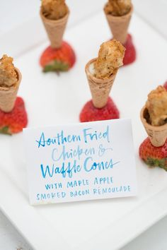 modern handwritten food cards http://itgirlweddings.com/charleston-engagement-party/