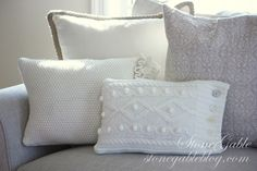 Nifty Zero Dollar Decorating Ideas -- Pillows made from old sweaters and clothes