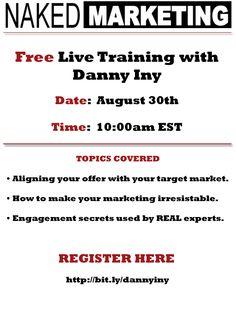 Free Live Marketing Training with Danny Iny [Webinar]
