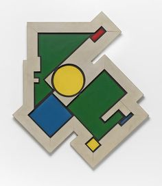 Rhod Rothfuss, Composición Madí 1948 Arte Madi, Museum Of Fine Arts, Houston, Symbols, Logos, Art History, Artists, Icons, Logo