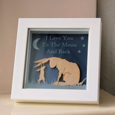Guess How Much I Love You Inspired Framed Decoration #guesshowmuchiloveyou #nutbrown #hare #rabbit #christening #birthday #nursery #bedroom