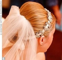 possible wedding hair: veil with headband together by tracey