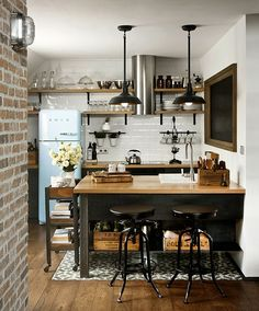 кухня в индустриальном стиле